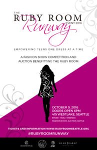 Ruby Room Runway 2016 Fashion Show Fundraiser Poster